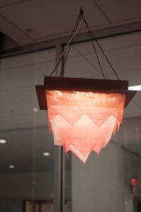Pink/Red Lighting Fixture
