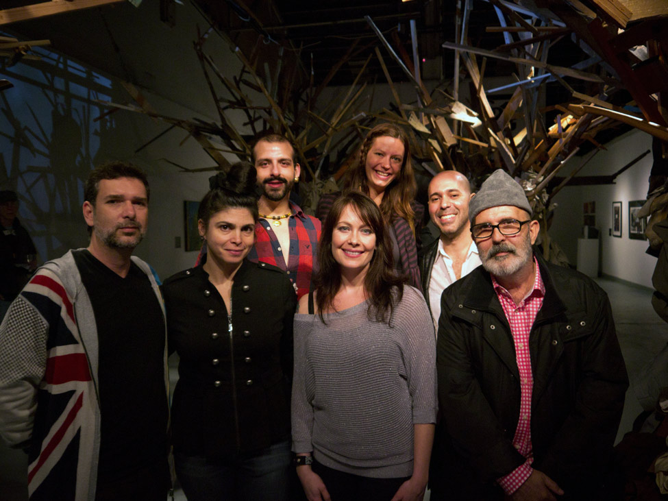 MFA Candidates Create Installation with Guerra de la Paz