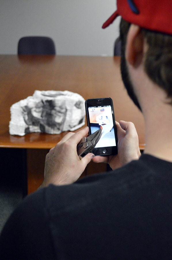 FAR-staffer-Noah-Brock-tests-augmented-reality-component-for-Michael-Rees