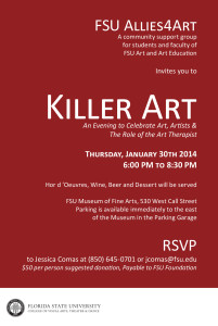KILLER ART: An Allies4Art Evening to Celebrate Art, Artists & The Role of the Art Therapist