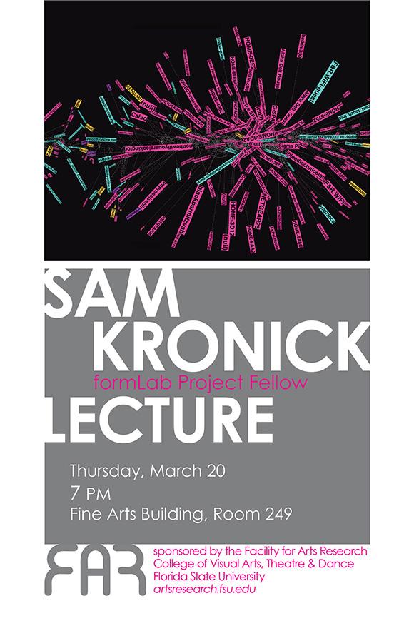 Sam Kronick lecture poster (2014) copy