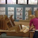 interiod design student constructing chair