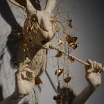 Front of rabbit sculpture