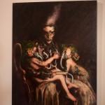 """""""The Usury of God (Translating Theotokos)"""" By MANDEM. mixed media painting."""