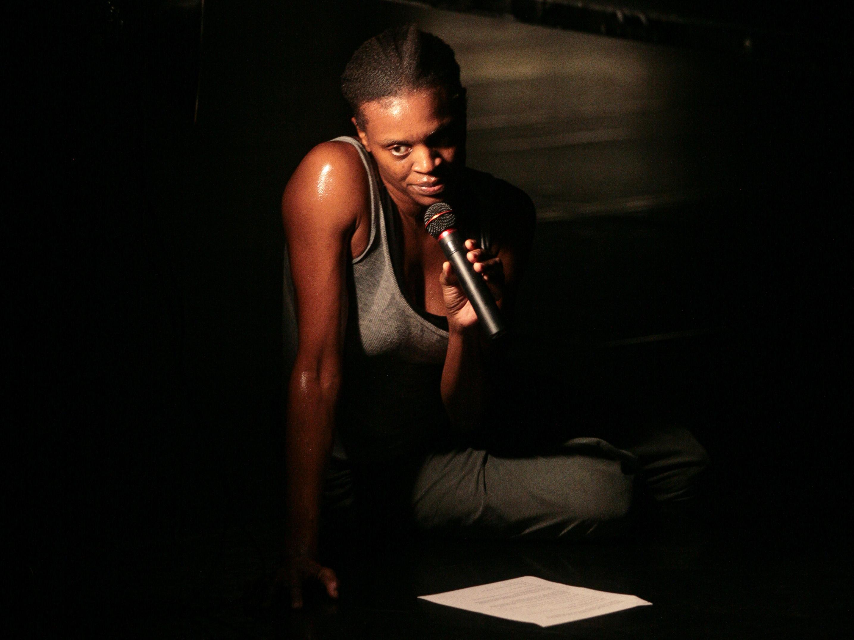 Okwui Okpokwasili performs at FSU School of Dance Forum