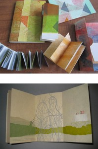 Small Structures Printed Layers bookbinding and letterpress printing examples