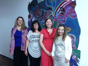 From left to right: Ann Rowson Love, Sara Scott Shields, Holly Hunt, Lisa Lisano