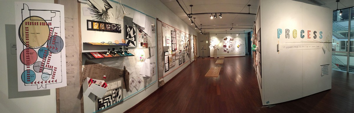 FSU College of Fine Arts Interior Design Gallery Show PROCESS