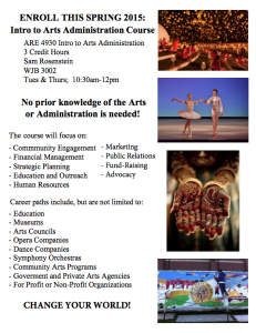 Arts Administration Program Flyer