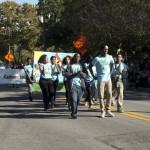 FSU Homecoming Parade, students walking
