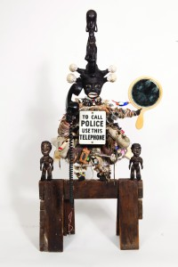 Vanessa German, Reality Check: To Call the Police Use this Phone, 2013, Mixed media assemblage, © Vanessa German, image courtesy of the artist and Pavel Zoubok Gallery, New York