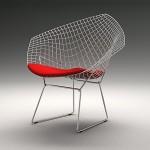 Diamond Chair by Harry Bertoia