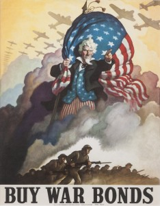 BUY WAR BONDS, attributed to N.C. Wyeth, 1942, United States Government Printing Office. Collection of Patrick M. Rowe.