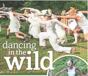 Florida Wildflower Foundation Annual Benefit event, CAI members performing choreographic works with local artist Linda Hall's hand-made masks