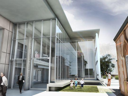 Ringling Glass Pavilion entrance design