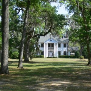 Messer Plantation house photographed before relocation from San Luis site, 2007.