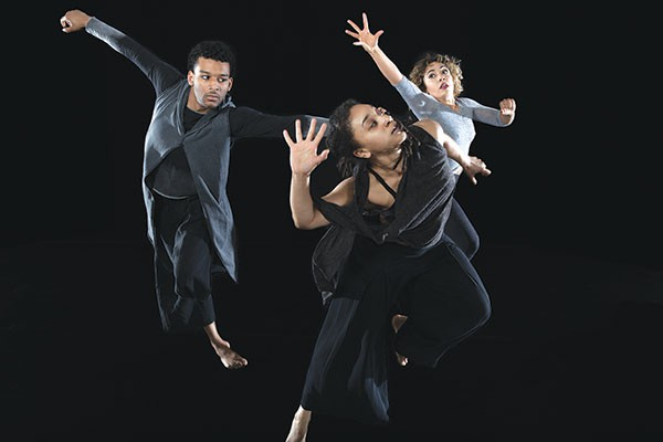 "Photo courtesy of Julieta Cervantes. Urban Bush Women perform ""Walking With 'Trane"""