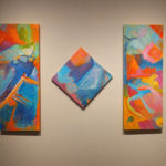 Triptych by Artist League member Françoise Baudoin D' Ajoux; Francoise studied with FSU faculty Arthur Deshaies and Trevor Bell when she was earning her MFA.