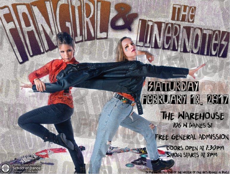 "School of Dance MFA Candidate Amanda Sieradzki Presents ""Fangirl & The Liner Notes"""