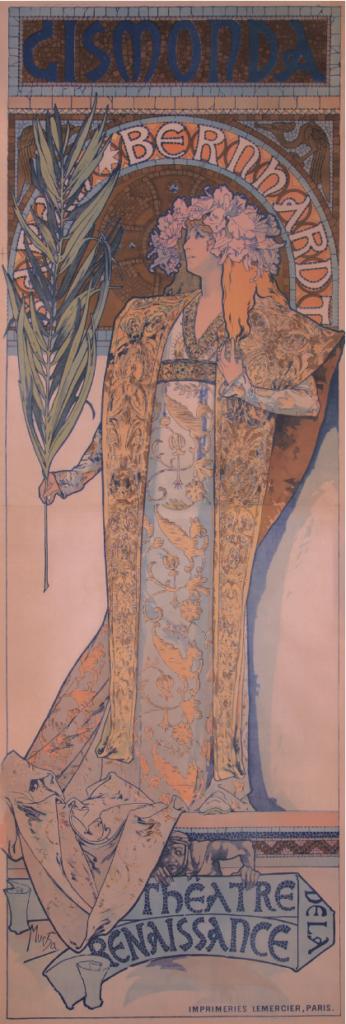 Alphonse Mucha, Gismonda, 1895, lithograph. Collection of Jack Rennert, New York.