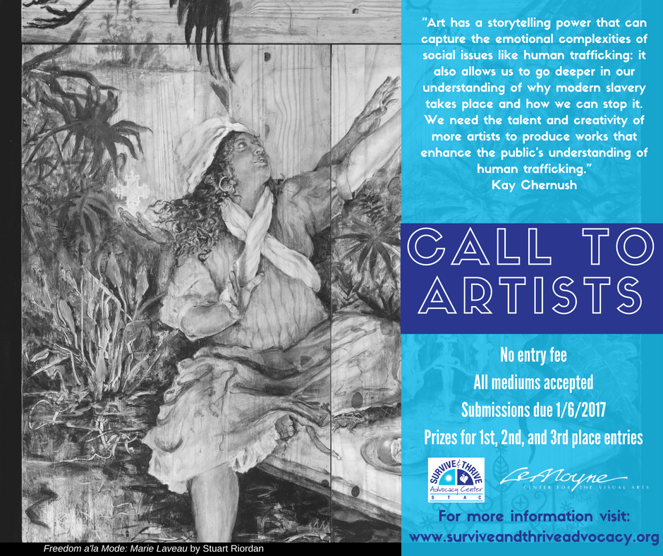 "Call to Artists: ""Imagining Freedom: A Call to End Human Trafficking"""