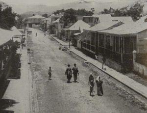 Principle business street of Bayamon, Puerto Rico, c.1898