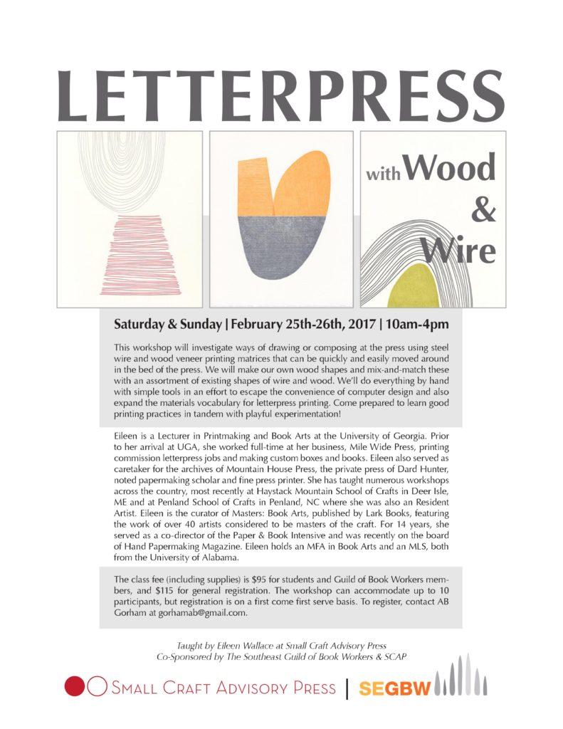 Eileen Wallace workshop flyer