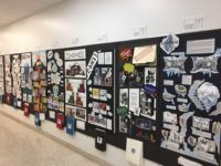 Student work on display in the William Johnston Building, North Hallway, First Floor.