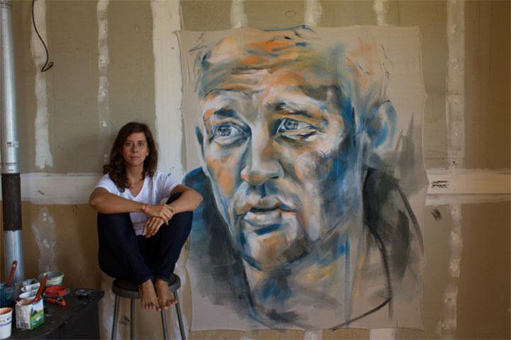 mikaela sheldt with art