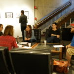 Breakout session with students during the workshop