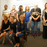 Artists, some of whom gave performances, and curators Allison Leatzow and Dr. Susan Baldino at Honest Visions.