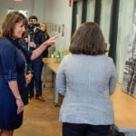 Second Lady Karen Pence tours the FSU art therapy program at the launch of her new initiative, Art Therapy: Healing with the HeART on Wednesday, Oct. 18, at Florida State University. (FSU Photography Services)