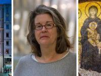 Koç Üniversity's Research Center for Anatolian Civilisations in Istanbul, Turkey; Professor Lynn Jones; Detail of vestibule mosaic, Hagia Sophia.