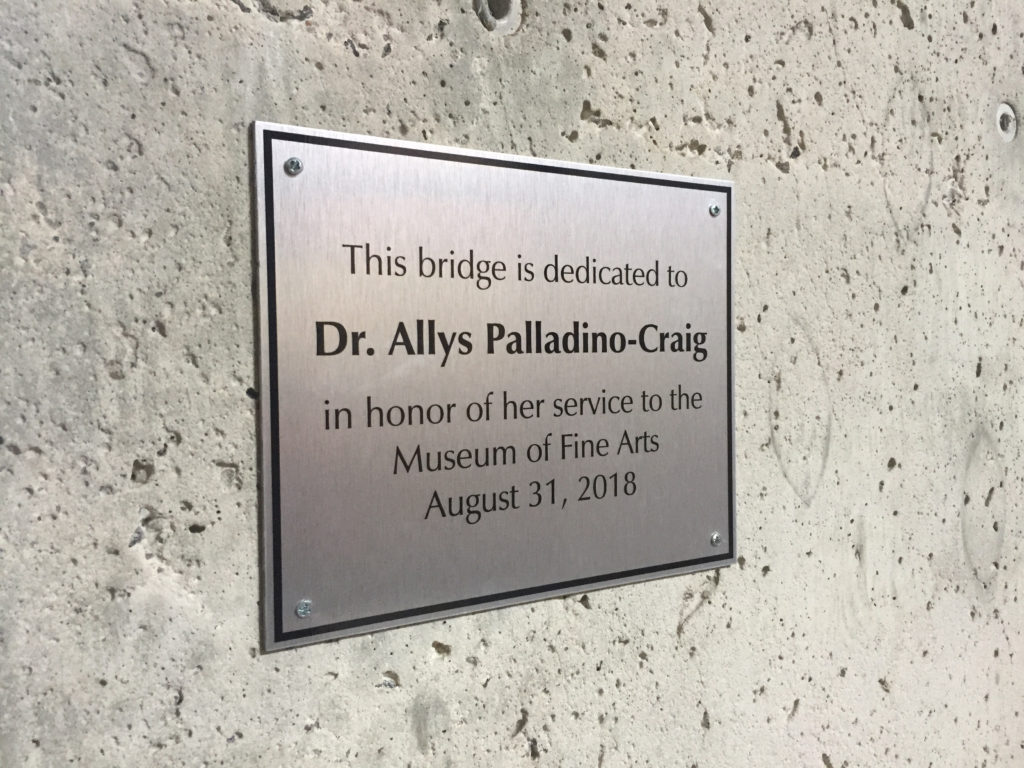 Thank you, Allys Palladino-Craig, Founding MoFA Director