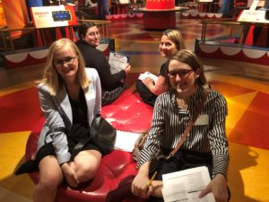 Maggie Richey, Annie Booth, Debbie Gerardi, and Kallie Turner in Tibbals Learning Center, The Ringling