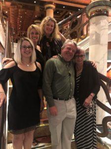 Julia Atkins, Elise Keifer, Ann Rowson Love, Tony Daniels, and Pat Villeneuve