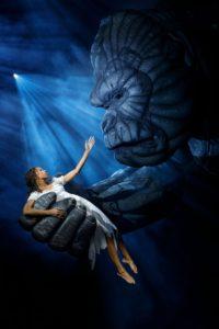 """Christiani Pitts as """"Ann Darrow"""" and """"King Kong"""""""