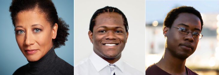 IIDA Foundation 2019 Nelson Scholarship recipients (L-R): Christina Bingham, Carl'Drail Cannon, Johnston Roberts