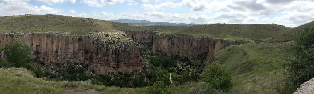 The Ihlara Valley, Cappadocia, where Yılanlı Kilise is located.
